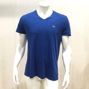 Lacoste Men's Blue V Neck T Shirt